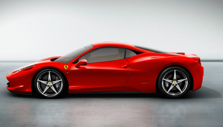 Ferrari 458 Italia-ด้านข้าง