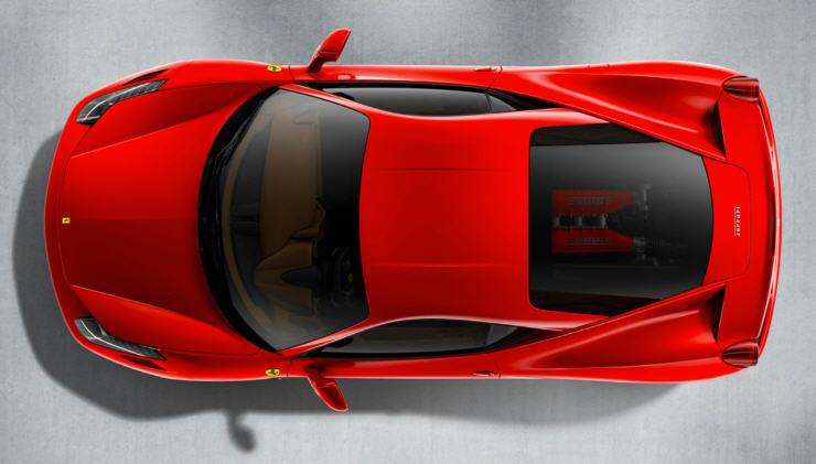 Ferrari 458 Italia-ด้านบน