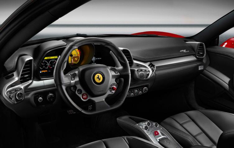 Ferrari 458 Italia-ภายใน