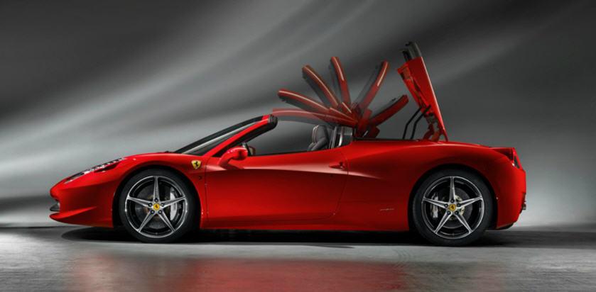 Ferrari 458 Spider-การปิดหลังคา