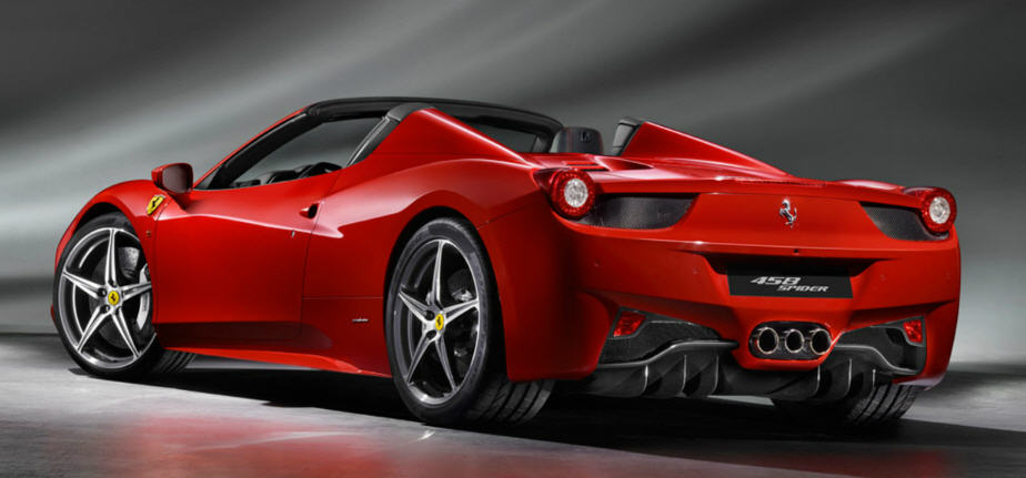 Ferrari 458 Spider-ด้านหลัง