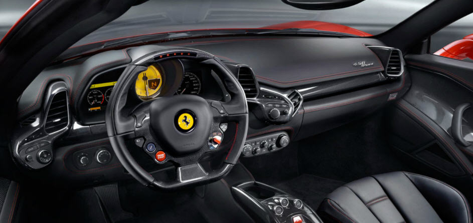 Ferrari 458 Spider-ภายในห้องโดยสาร