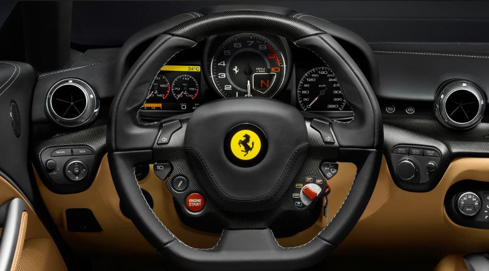 Ferrari F12berlinetta -พวงมาลัย