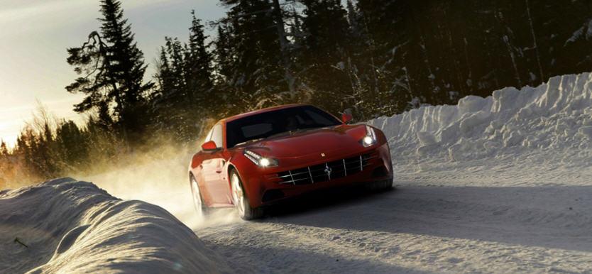 Ferrari FF-ลุยหิมะ