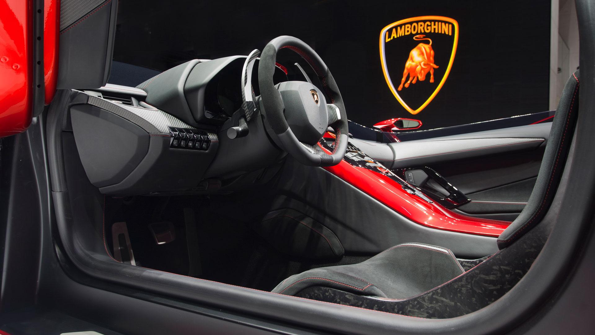 Lamborghini Aventador J-ห้องโดยสาร