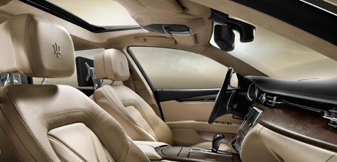 Maserati New Quattroporte V8-ภายในห้องโดยสาร