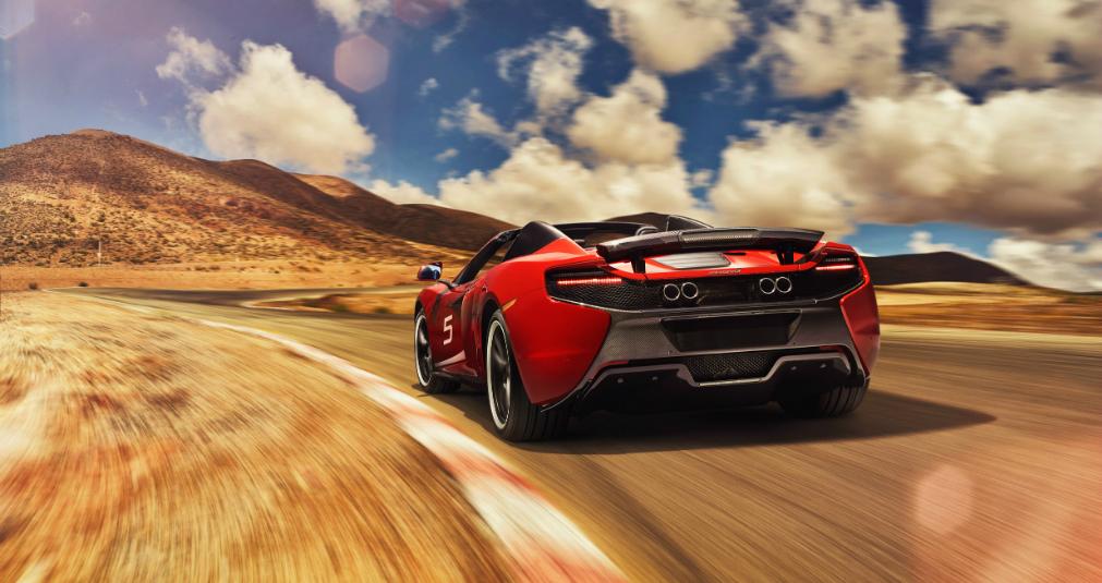 McLaren 650S SPIDER-ด้านหลัง