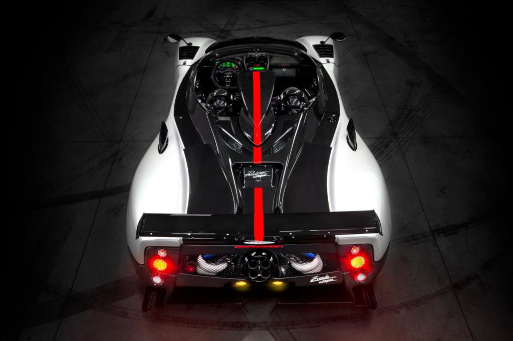 Pagani Zonda CINQUE Roadster-ด้านบน