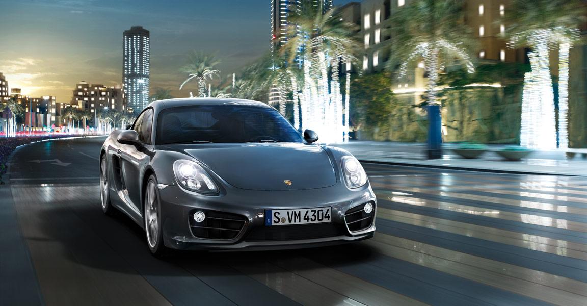 Porsche Cayman -ด้านหน้า